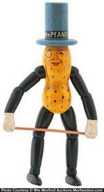 Wooden Mr. Peanut Doll