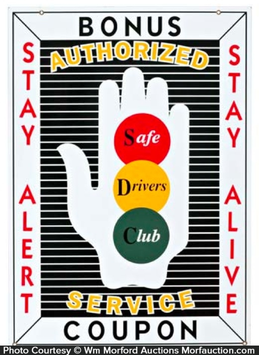 Safe Drivers Club Sign
