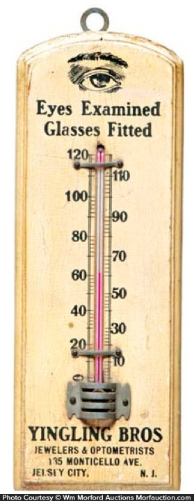 Yingling Bros Optician Thermometer