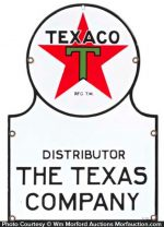 Texaco Distributor Sign