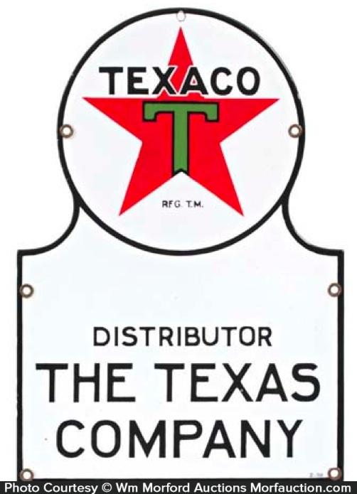 Texaco Distributor Sign