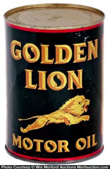 Golden Lion Motor Oil Can
