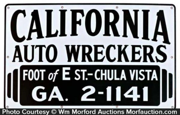 California Auto Wreckers Sign