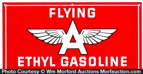 Flying A Gasoline Sign