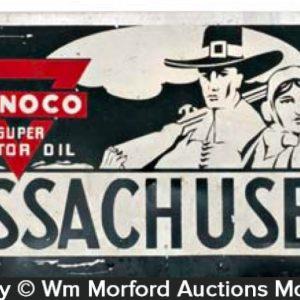 Conoco Motor Oil License Plate