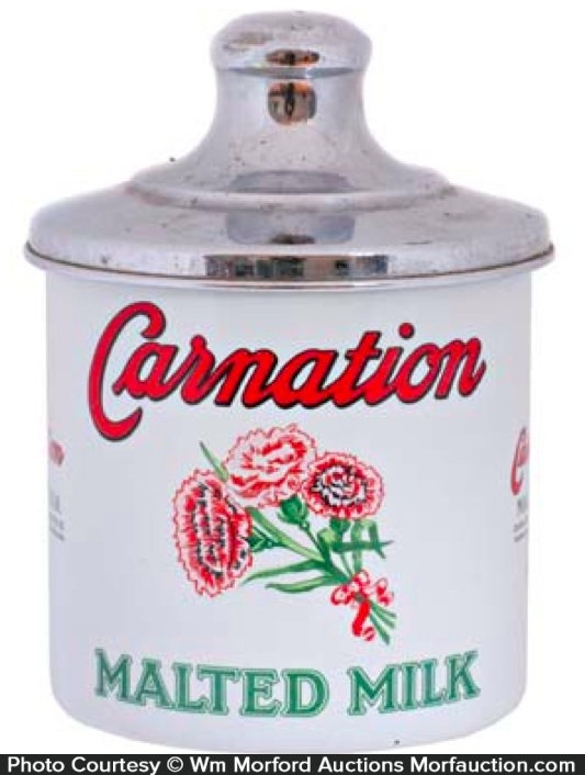 Carnation Malted Milk Canister