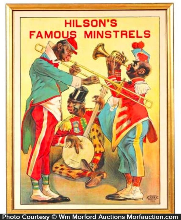 Hilson's Minstrels Poster