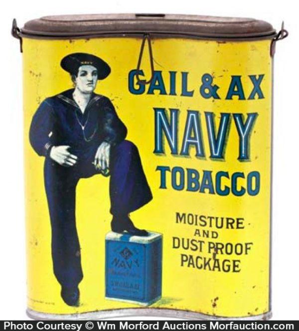 Gail & Ax Navy Tobacco Tin