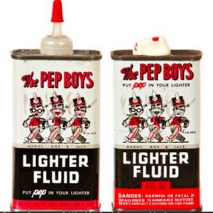 Pep Boys Lighter Fluid Tins