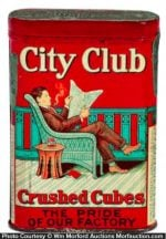 City Club Crushed Cubes Tobacco Tin