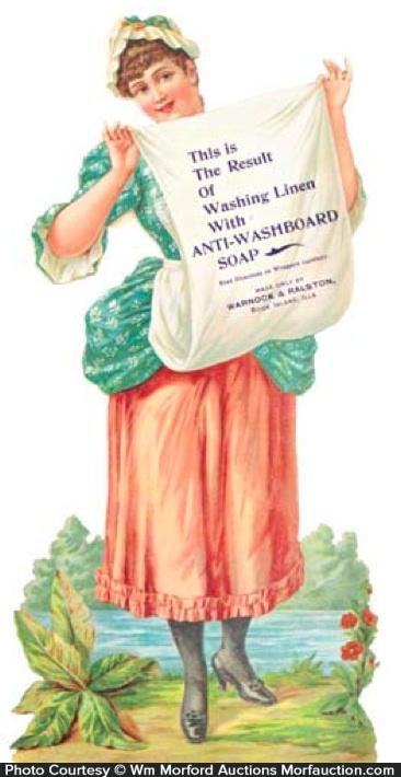 Anti-Washboard Soap Sign