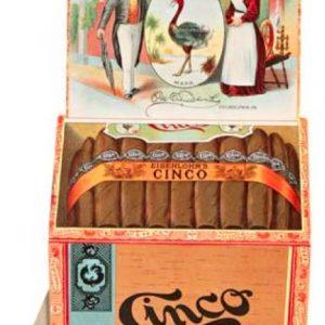 Cinco Cigar Sign