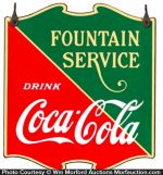 Coca-Cola Fountain Service Sign