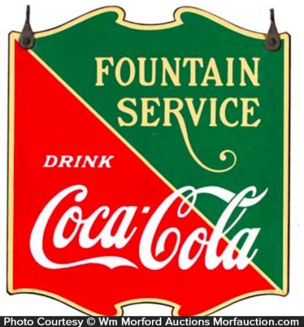 Coca-Cola Fountain Service Sign