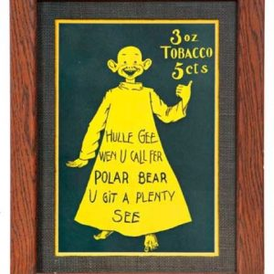 Polar Bear Tobacco Yellow Kid Sign