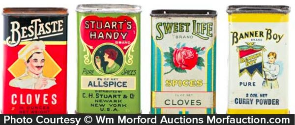 Vintage Spice Tin Lot