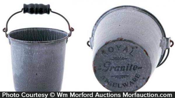 Miniature Royal Graniteware Pail