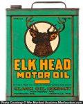 Elk Head Motor Oil Can