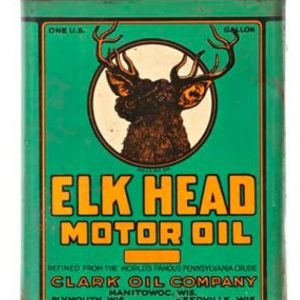 Elk Head Motor Oil Can