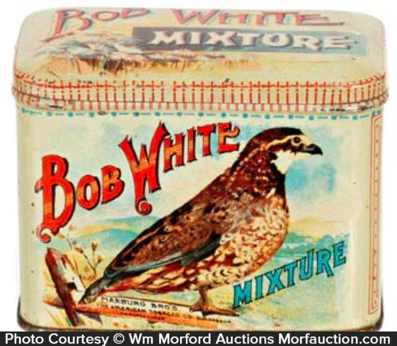 Bob White Tobacco Tin