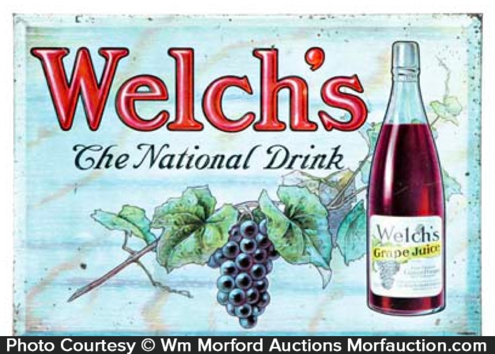 Welch's Grape Juice Sign
