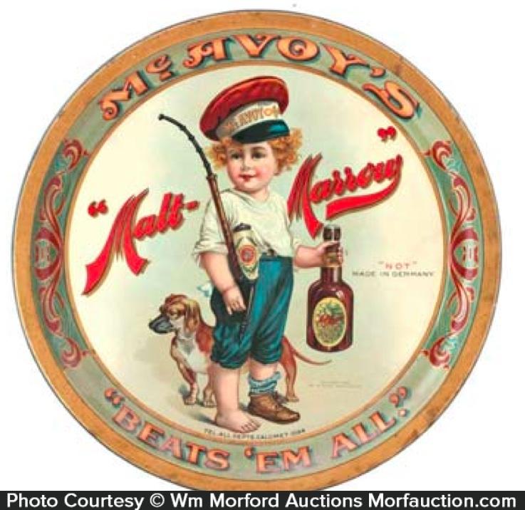 Mcavoy Malt-Marrow Beer Tray
