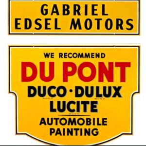 Du Pont Automobile Paint Sign