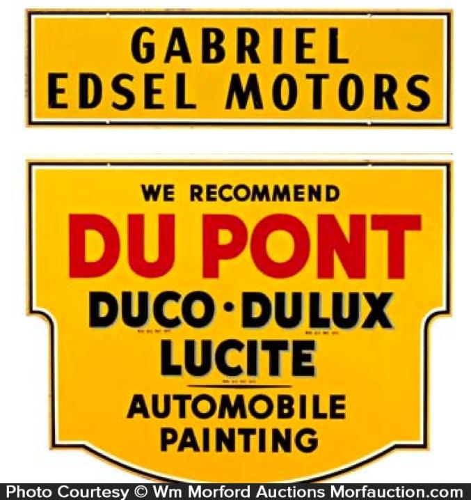 Du Pont Automobile Paint Sign