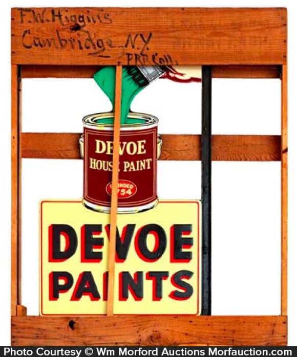 Devoe Paints Sign