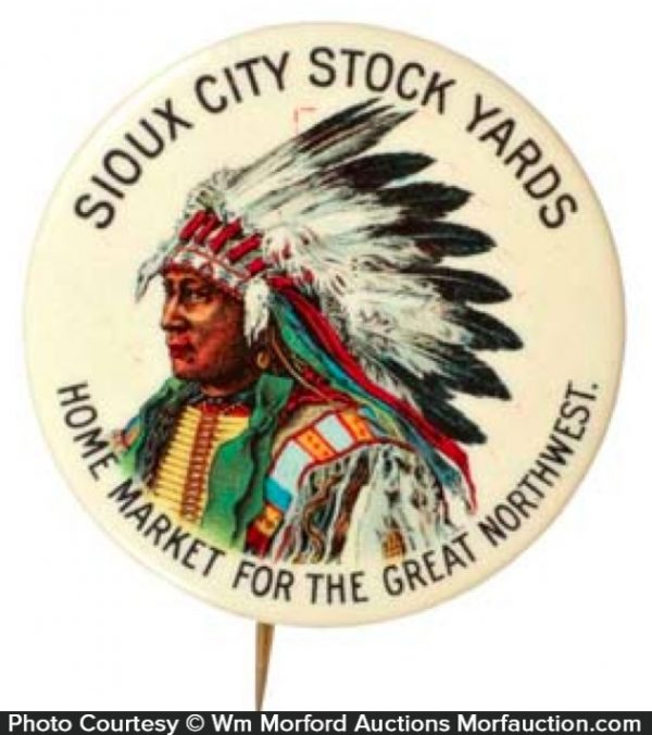 Sioux Stock Yards Pinback