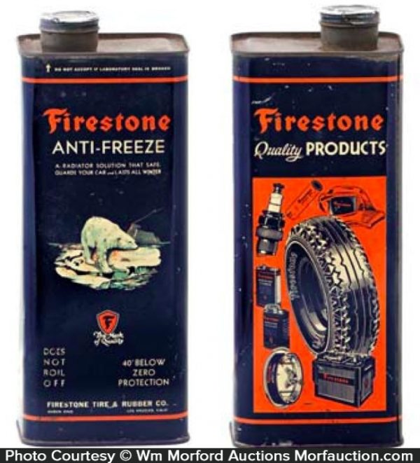 Firestone Anti-Freeze Tin