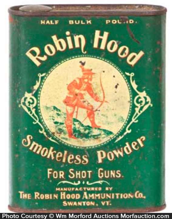 Robin Hood Gun Powder Tin