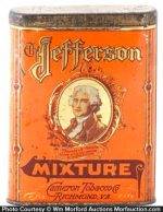 Jefferson Mixture Tobacco Tin