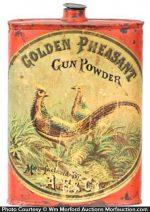 Golden Pheasant Gun Powder Tin