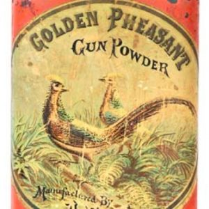 Golden Pheasant Gun Powder Tin