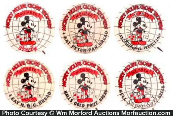 Mickey Mouse Bread Pins