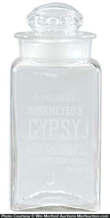 Gypsy Cough Drops Jar