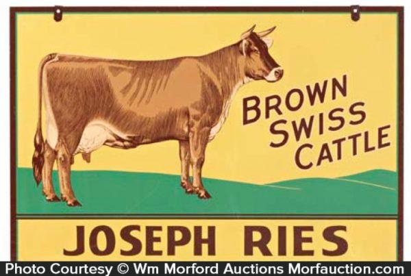 Joseph Ries Cattle Sign