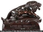Lion Oil Paperweight