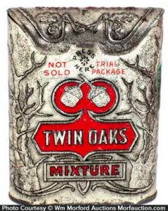Twin Oaks Tobacco Tin Sample