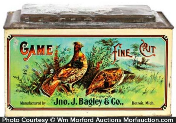 Game Tobacco Tin Store Bin