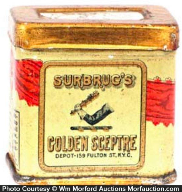 Surbrug's Golden Sceptre Tobacco Tin