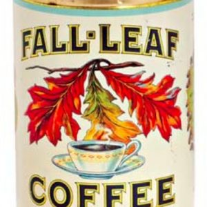 Fall-Leaf Coffee Can