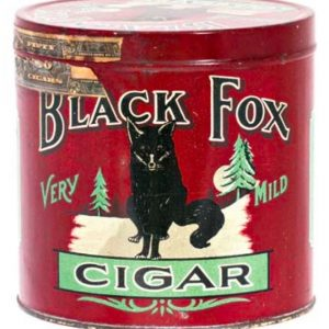 Black Fox Cigar Tin
