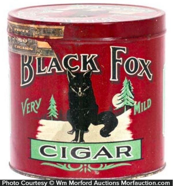 Black Fox Cigar Tin