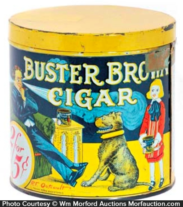 Buster Brown Cigar Can