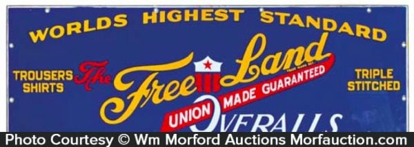 Free Land Overalls Sign
