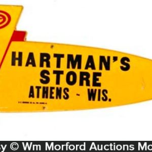 Hartman's Store Airplane Sign