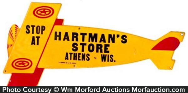 Hartman's Store Airplane Sign