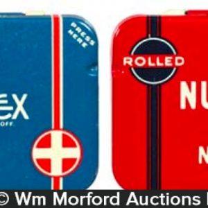 Vintage Nutex Condom Tins